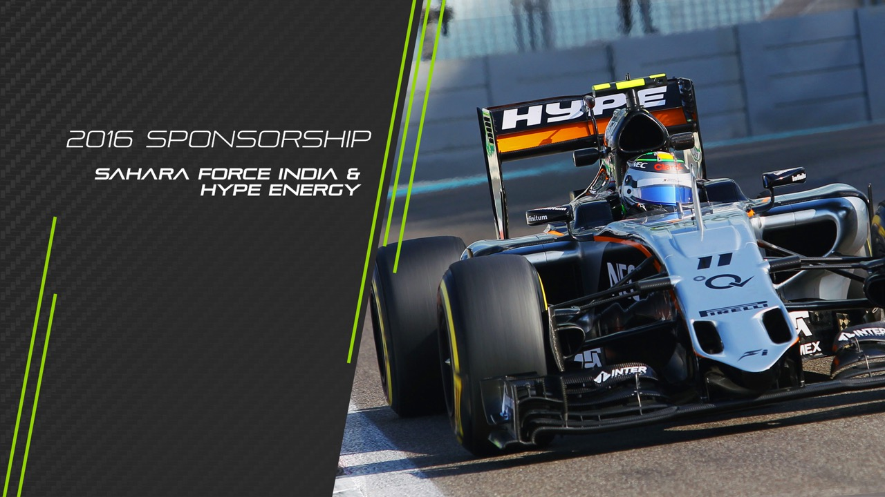 Hype Energy drinks SFI F1 team Sponsorship Season 2016