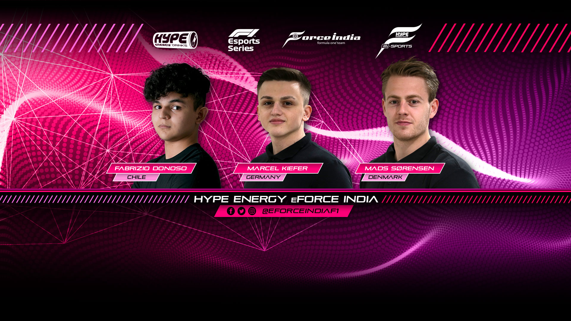 Hype Energy eForce India Driver Lineup Banner V2
