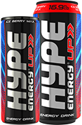 Hype Energy drinks image with X2 can