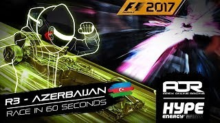 RACE IN 60 SECONDS | R3 - Azerbaijan | AOR Hype Energy F1 Leagues