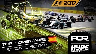 TOP 5 OVERTAKES SO FAR! | Season 15 | AOR Hype Energy F1 Leagues