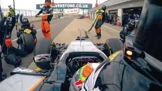 Martin Brundle tests the VJM08 in Silverstone